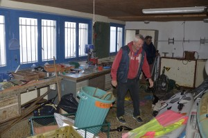 Nettoyage atelier - avant